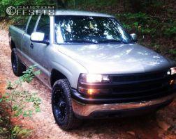 2002 Chevrolet Silverado 1500 - 18x9.5 -12mm - Dropstars 645B - Leveling Kit - 275/70R18