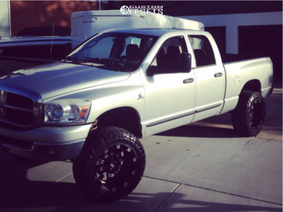 """2008 Dodge Ram 2500 - 20x12 -44mm - Red Dirt Road Digger - Leveling Kit - 35"""" x 12.5"""""""