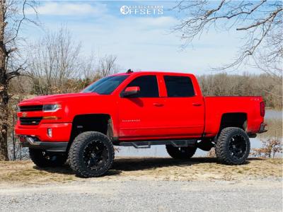 "2018 Chevrolet Silverado 1500 - 20x12 -44mm - Hostile Alpha - Suspension Lift 8"" - 35"" x 12.5"""
