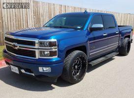 2015 Chevrolet Silverado 1500 - 22x12 -44mm - Hostile Sprocket - Lowered 2F / 4R - 305/40R22