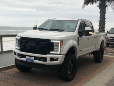 """2017 Ford F-350 Super Duty - 20x9 0mm - Cali Offroad Switchback - Suspension Lift 4.5"""" - 37"""" x 13.5"""""""