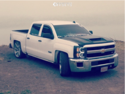 2018 Chevrolet Silverado 1500 - 26x10 15mm - Luxxx Alloys Lux8 - Lowered 5F / 7R - 295/30R26
