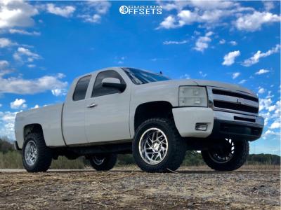 "2009 Chevrolet Silverado 1500 - 20x10 -18mm - Moto Metal Mo985 - Suspension Lift 4"" - 35"" x 12.5"""