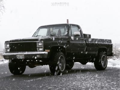 "1981 Chevrolet K20 - 20x12 -44mm - Moto Metal Mo962 - Suspension Lift 2.5"" - 33"" x 12.5"""