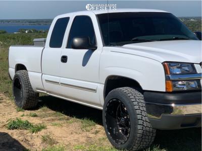 2003 Chevrolet Silverado 1500 - 20x12 -44mm - TIS 544bm - Leveling Kit - 275/55R20