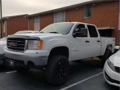 "2008 GMC Sierra 1500 - 22x9.5 -12mm - Ballistic Jester - Suspension Lift 6.5"" - 35"" x 12.5"""