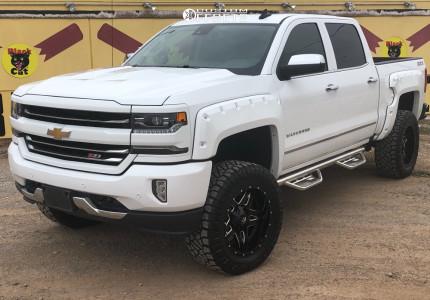 "2017 Chevrolet Silverado 1500 - 20x10 -12mm - Fuel Full Blown - Suspension Lift 6"" - 35"" x 12.5"""