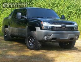 2002 Chevrolet Avalanche - 17x9 -12mm - Fuel Cleaver - Leveling Kit - 285/70R17