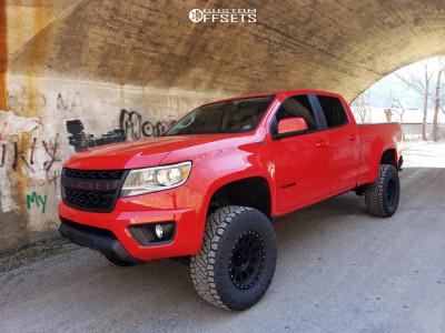 "2017 Chevrolet Colorado - 17x8.5 0mm - Method Grid - Suspension Lift 5.5"" - 33"" x 12.5"""