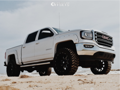 "2016 GMC Sierra 1500 - 22x12 -44mm - Mayhem Warrior - Suspension Lift 5"" - 325/50R22"