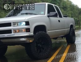 "1997 Chevrolet C1500 - 20x12 -44mm - Red Dirt Road Dirt - Suspension Lift 4"" - 33"" x 12.5"""