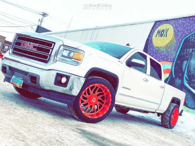 2014 GMC Sierra 1500 - 22x12 -44mm - TIS 544rm - Stock Suspension - 305/45R22