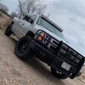 """2013 Chevrolet Silverado 1500 - 20x10 -24mm - Havok H109 - Leveling Kit - 33"""" x 12.5"""""""