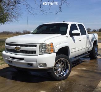 "2011 Chevrolet Silverado 1500 - 22x12 -44mm - RBP 73R - Suspension Lift 3.5"" - 33"" x 12.5"""