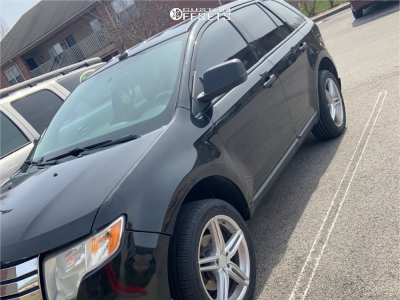 2010 Ford Edge - 19x8 32mm - Drag Dr73 - Stock Suspension - 235/50R19