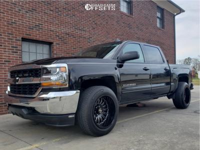 2018 Chevrolet Silverado 1500 - 20x12 -51mm - ARKON OFF-ROAD Alexander - Stock Suspension - 275/60R20