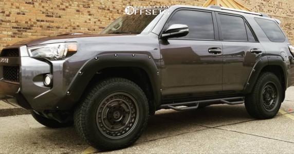 2017 Toyota 4Runner - 18x9.5 6mm - Black Rhino Armory - Leveling Kit - 265/65R18