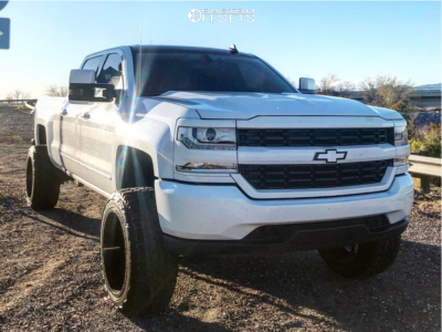 "2016 Chevrolet Silverado 1500 - 22x12 -44mm - Fuel Sledge - Suspension Lift 7.5"" - 35"" x 12.5"""