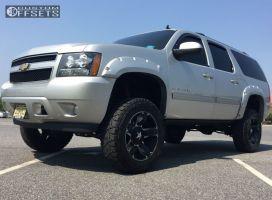"2010 Chevrolet Suburban - 20x12 -44mm - Xd Rockstar Ii - Suspension Lift 7.5"" - 35"" x 12.5"""