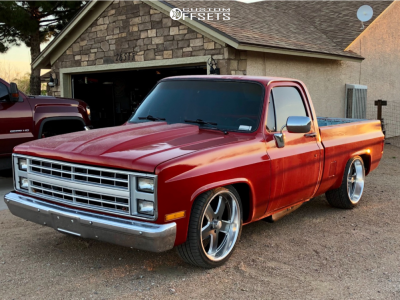 1985 Chevrolet C10 - 22x11 18mm - US Mags Hustler - Lowered 5F / 7R - 0/35R22