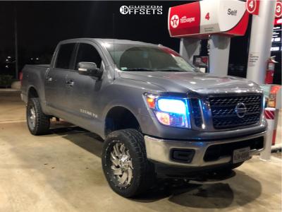 "2018 Nissan Titan - 22x10 -13mm - Fuel Cleaver D240 - Suspension Lift 6.5"" - 305/45R22"
