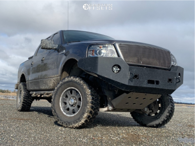 """2007 Ford F-150 - 17x9 0mm - Eagle Alloy Series 140 - Suspension Lift 4"""" - 35"""" x 12.5"""""""