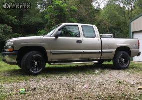 2001 Chevrolet Silverado 1500 - 16x8 13mm - Pacer Daytona - Stock Suspension - 265/75R16