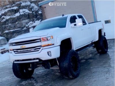 "2016 Chevrolet Silverado 1500 - 20x12 -44mm - Fuel Krank - Lifted >12"" - 38"" x 15.5"""