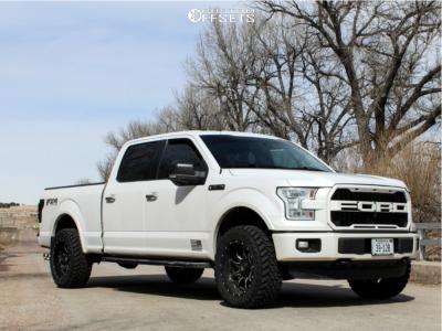 "2015 Ford F-150 - 20x10 -18mm - Fuel Vandal - Leveling Kit - 33"" x 12.5"""