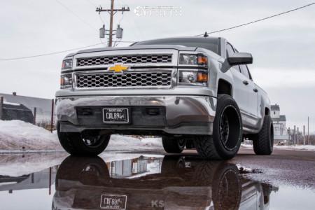 """2015 Chevrolet Silverado 1500 - 20x12 -51mm - Vision Rocker - Level 2"""" Drop Rear - 305/50R20"""