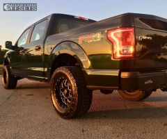 2015 Ford F-150 - 18x9 -12mm - Xd Xd820 - Leveling Kit - 325/60R18