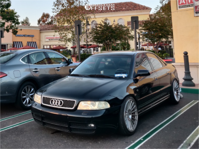 2001 Audi S4 - 18x8.5 38mm - ESM 008 - Coilovers - 225/40R18