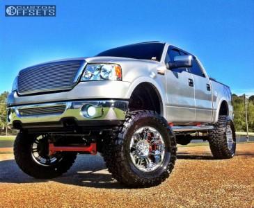 "2006 Ford F-150 - 20x10 -25mm - Gear Off-Road Full Throttle - Lifted >9"" - 38"" x 15.5"""