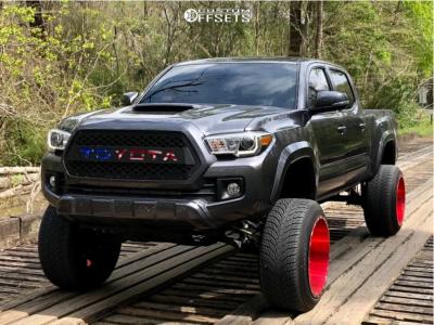 "2017 Toyota Tacoma - 22x14 -76mm - TIS 544rm - Suspension Lift 8.5"" - 305/45R22"