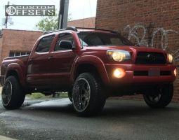 "2011 Toyota Tacoma - 20x12 -44mm - Gear Off-Road Big Block - Suspension Lift 3"" - 275/55R20"