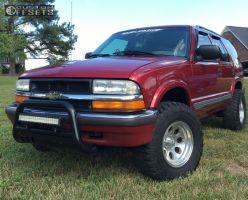 "2001 Chevrolet Blazer - 15x10 -38mm - Alloy Ion Style 171 - Leveling Kit - 31"" x 10.5"""