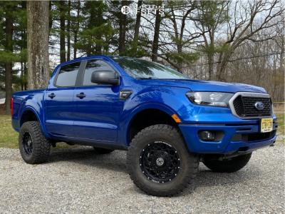 "2019 Ford Ranger - 17x9 0mm - Anthem Off-road Avenger - Suspension Lift 3.5"" - 33"" x 12.5"""