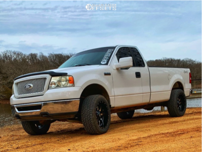 2006 Ford F-150 - 20x10 -24mm - Moto Metal Mo970 - Leveling Kit - 275/55R20