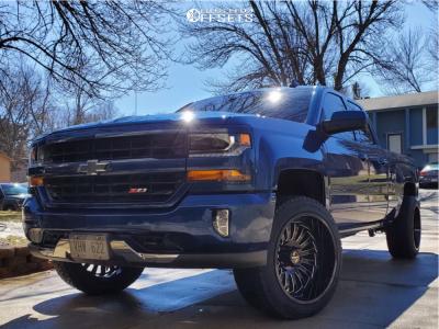2018 Chevrolet Silverado 1500 - 22x12 -51mm - ARKON OFF-ROAD Alexander - Leveling Kit - 305/45R22