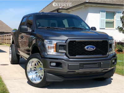 """2018 Ford F-150 - 22x12 -40mm - American Force Trax Ss - Leveling Kit - 33"""" x 12.5"""""""