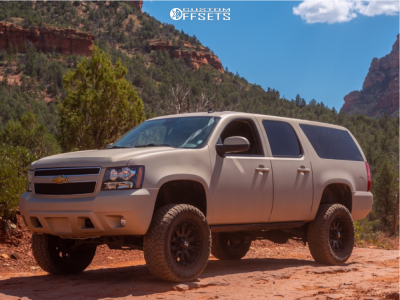 "2011 Chevrolet Suburban 1500 - 20x9 0mm - XD Misfit - Suspension Lift 7.5"" - 35"" x 12.5"""