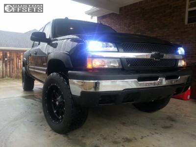 2004 Chevrolet Silverado 2500 - 20x10 -44mm - Fuel Hostage - Stock Suspension - 275/60R20