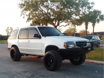 """1998 Ford Explorer - 20x12 -44mm - Xf Offroad Xf-211 - Suspension Lift 4"""" - 275/55R20"""