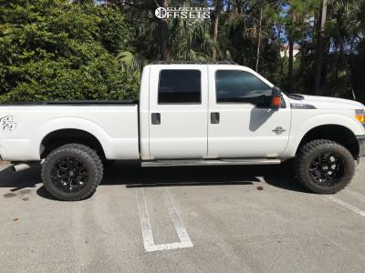 """2012 Ford F-250 - 20x12 -44mm - XD Buck - Suspension Lift 2.5"""" - 35"""" x 12.5"""""""