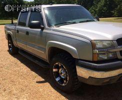 """2004 Chevrolet Silverado 1500 - 17x9.5 12mm - Xd Spy - Leveling Kit - 33"""" x 12.5"""""""