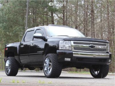 "2008 Chevrolet Silverado 1500 - 22x12 -51mm - ARKON OFF-ROAD Lincoln - Suspension Lift 3.5"" - 33"" x 12.5"""