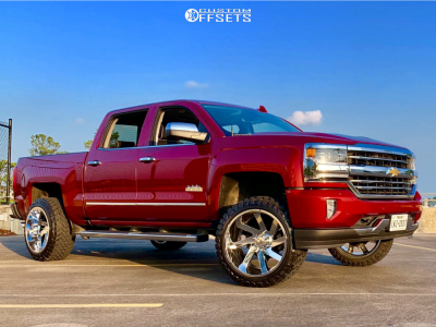 "2018 Chevrolet Silverado 1500 - 22x12 -51mm - ARKON OFF-ROAD Lincoln - Suspension Lift 3.5"" - 33"" x 12.5"""