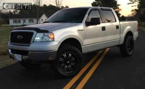 """2005 Ford F-150 - 20x9 0mm - Red Dirt Road Dirt - Leveling Kit - 35"""" x 12.5"""""""