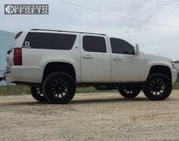 """2009 Chevrolet Suburban 2500 - 22x12 -44mm - XD XD806 - Suspension Lift 6"""" - 35"""" x 12.5"""""""