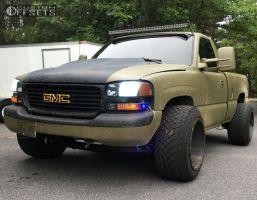 2000 GMC Sierra 1500 - 20x14 -76mm - Fuel Maverick - Stock Suspension - 305/50R20